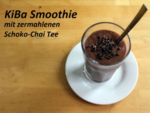 KiBa Smoothie Kirsch Banane Chai Tee Rezept Vital for your life vitalforyourlife