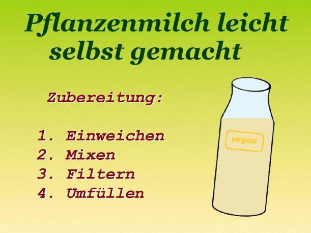 Rohköstliche Pflanzenmilch leicht selbst gemacht Mandelmilch Haferdrink Vital for your life vitalforyourlife
