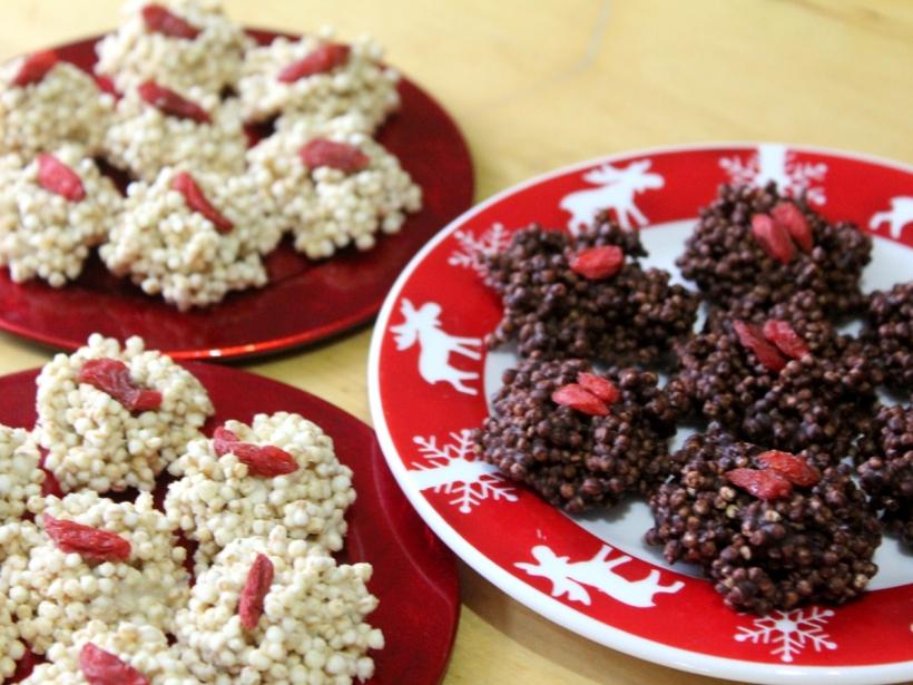 schokoladige Quinoa Wölkchen Gojibeeren vegan glutenfrei vitalforyourlife Vital for your life