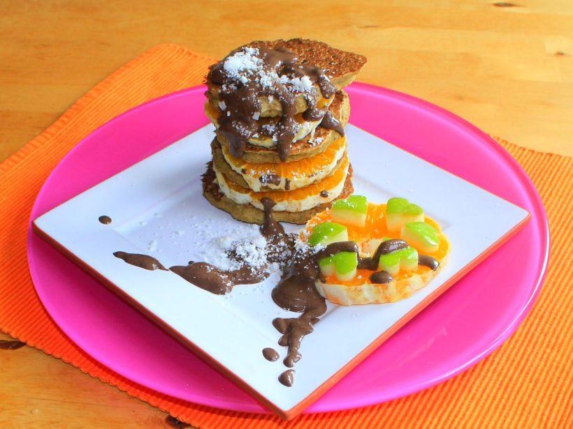 Fluffige Pancakes Pfannkuchen Eierkuchen Rezept vegan, vollwertig und glutenfrei Vital for your life vitalforyourlife