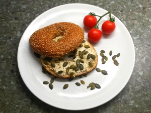 Mandel Feta Bagel Rezept Vital for your life vegan food blog vitalforyourlife.com