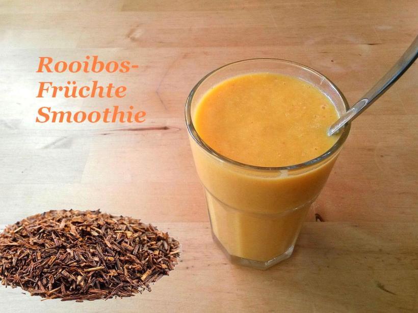 Rooibos Früchte Smoothie Rezept von Vital for your life Vegan Food Blog