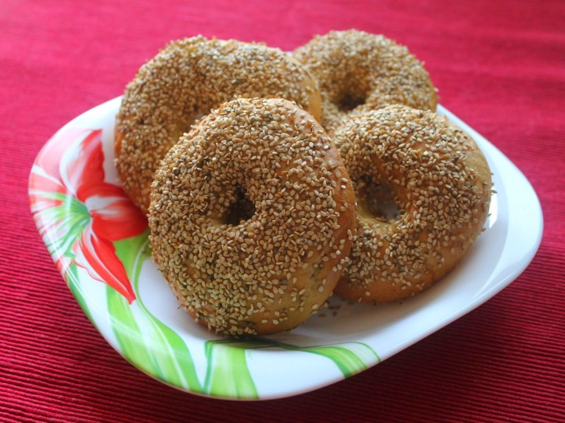 Sesam Bagels von Vital for your life Vegan Food Blog